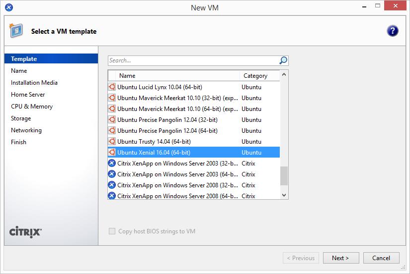 Add Ubuntu 16.04 LTS Template in XenServer 1