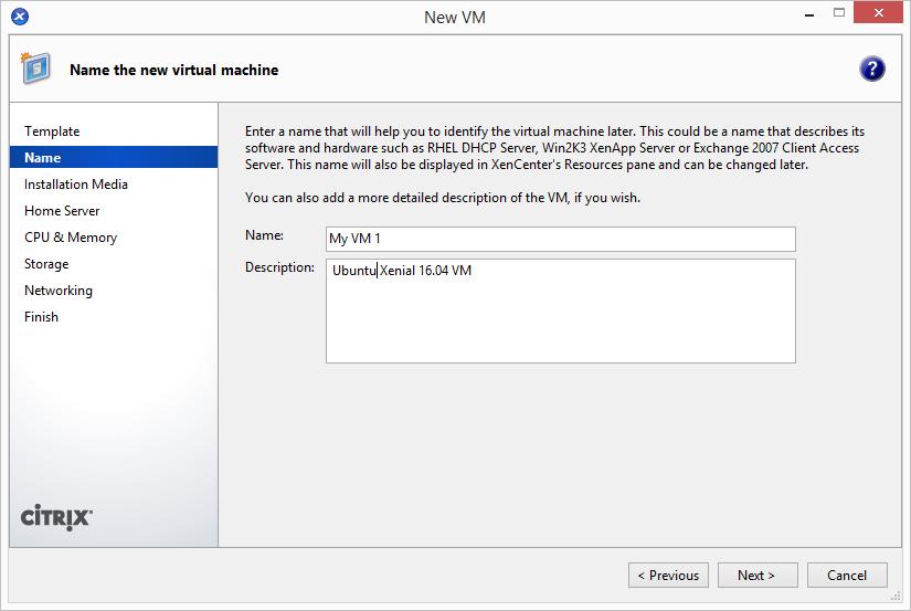 Add Ubuntu 16.04 LTS Template in XenServer 2