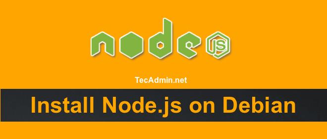 install nodejs debian