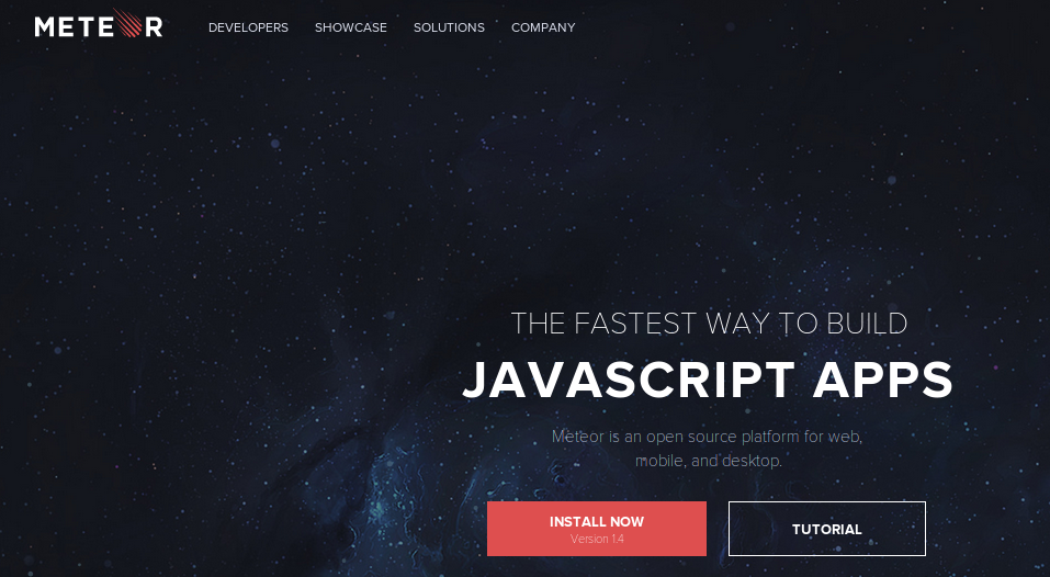Meteor  - Best Mobile JavaScript Framework
