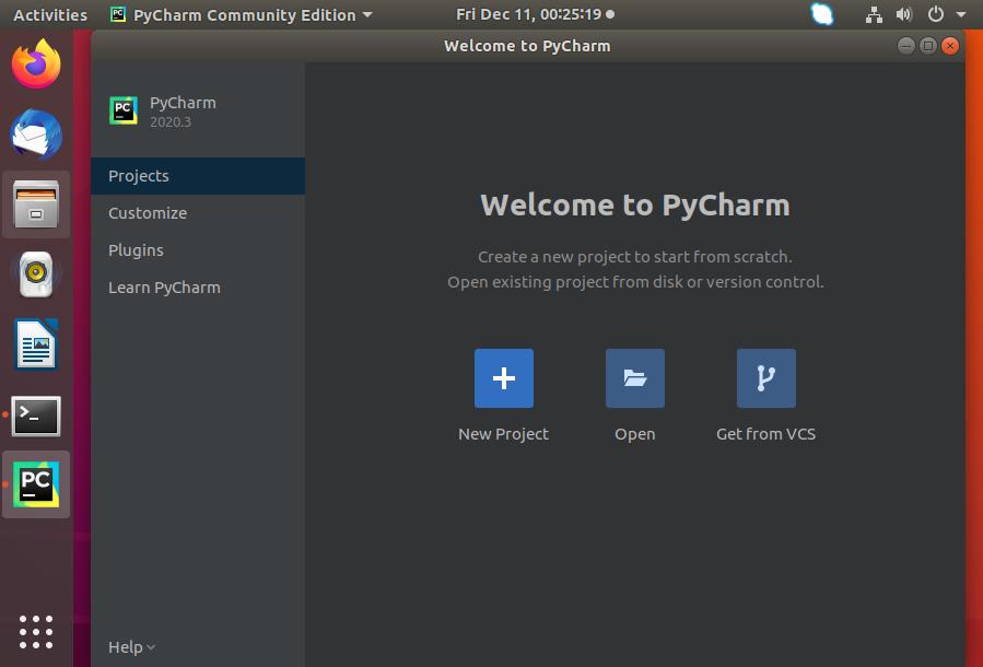 Installing pycharm on Ubuntu 18.04