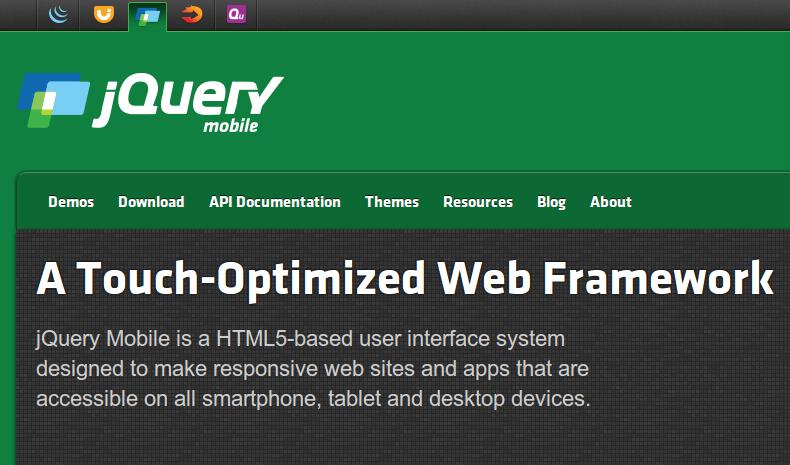 jQuery Mobile - Best JavaScript Frameworks