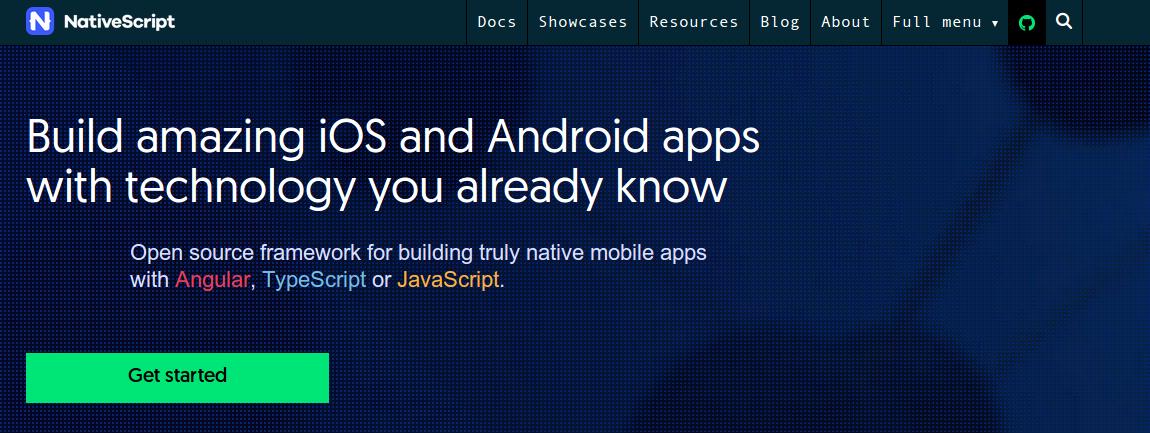 NativeScript  - Best Mobile JavaScript Framework