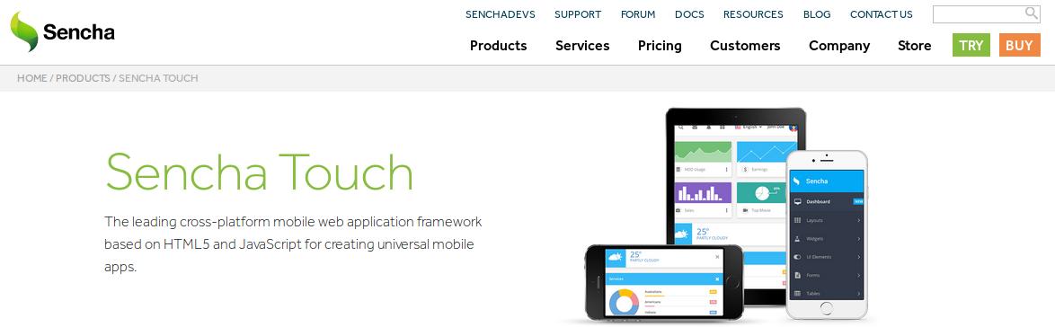 Sencha Touch - Best JavaScript Frameworks for Mobile