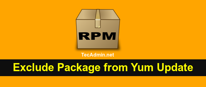 exclude specific packages from Yum Update
