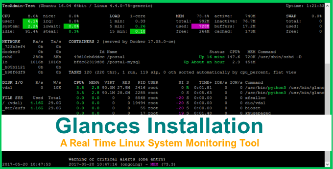 Glances - A Real-Time Monitoring Tool for Linux