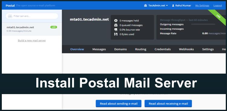 Install Postal Mail Server