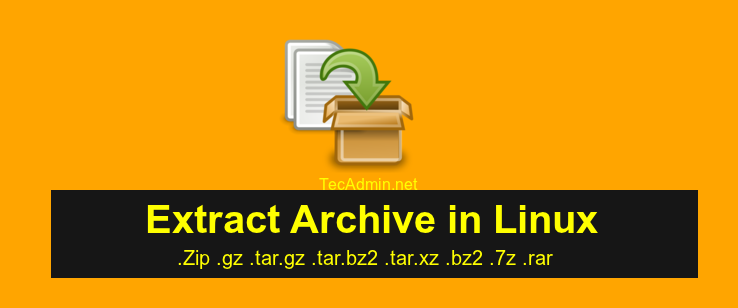 extract archive file linux