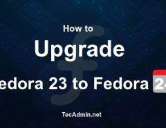 Upgrade Fedora 23 to Fedora 24