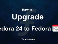Upgrade Fedora 24 to Fedora 25