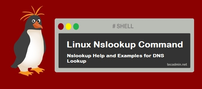 Linux nslookup Command Help and Examples for DNS Lookup