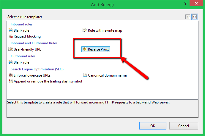 Reverse proxy using IIS 4