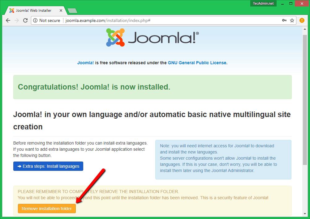 Install Joomla Step 4
