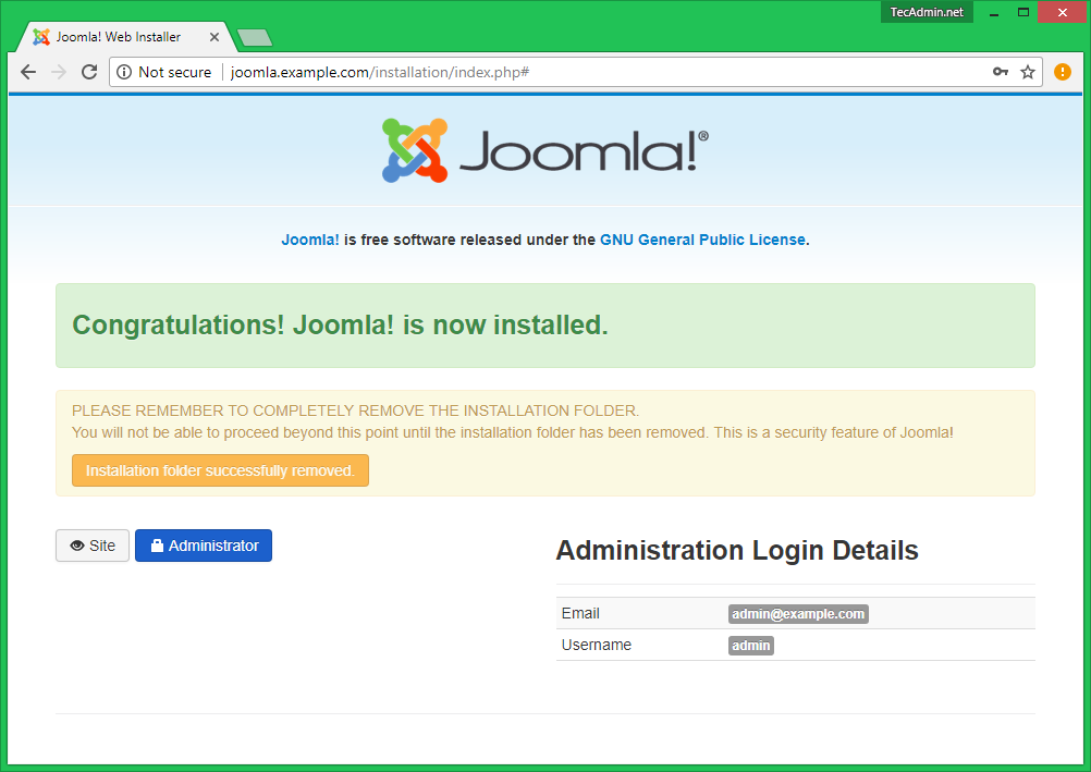 How to Install Joomla 3 8 CMS on Ubuntu, Debian, LinuxMint