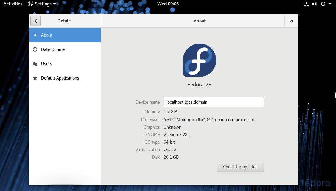 Fedora Upgrade