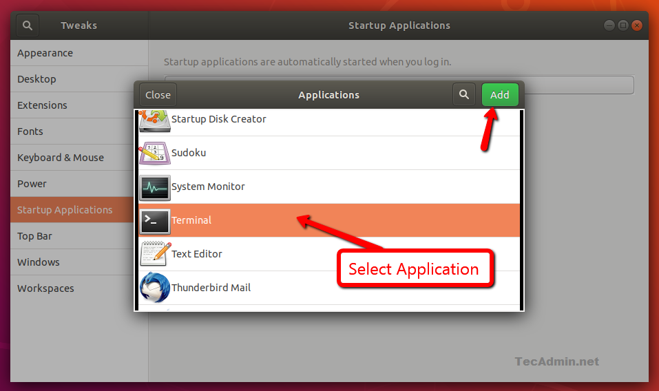 How To Add or Remove Startup Application in Ubuntu