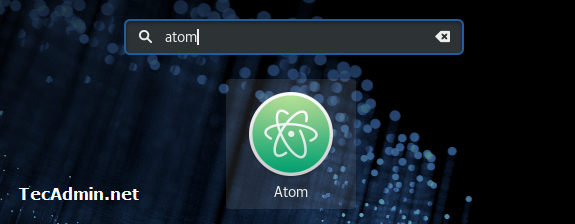 Launch Atom on Fedora