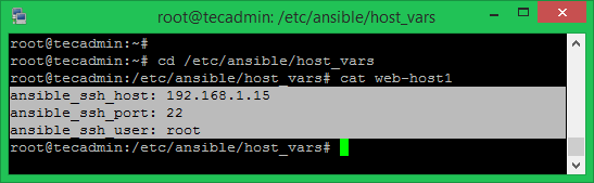 Ansible Host Settings