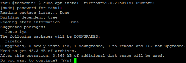 How To Install Specific Package Version on Ubuntu & Debian