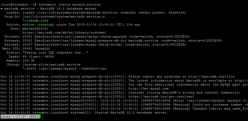 How To Install Apache, MySQL & PHP on Fedora 30/29/28 - TecAdmin