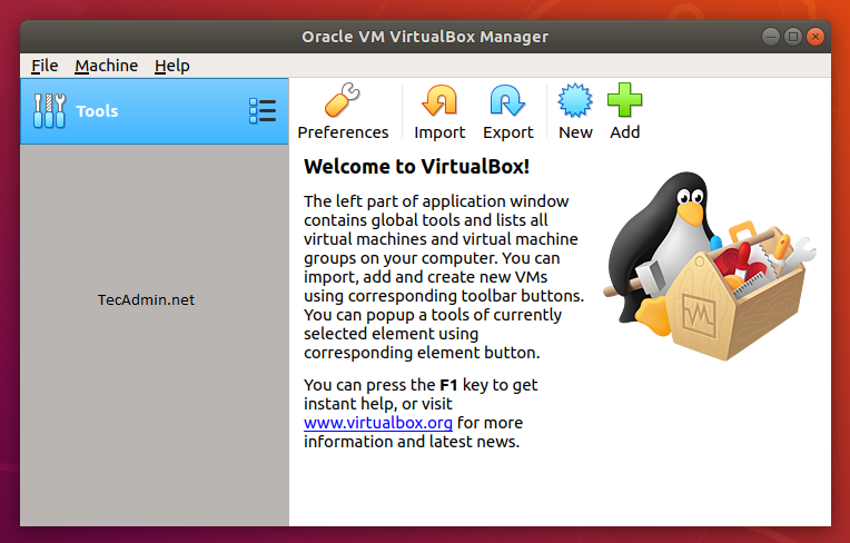 How To Install VirtualBox 6 0 on Ubuntu 18 04 LTS – TecAdmin