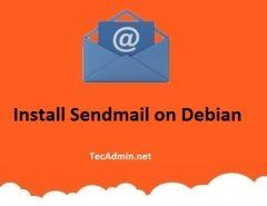 Install Sendmail on Debian