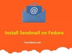 Install Sendmail on Fedora