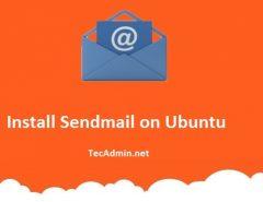 Install Sendmail on Ubuntu