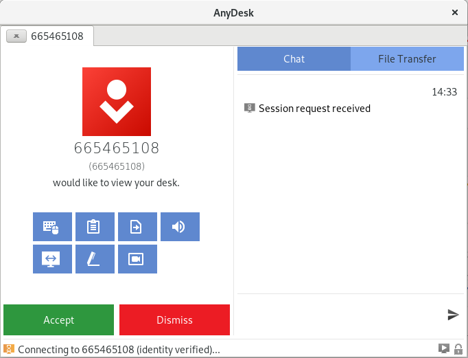 Allow request anydesk on fedora