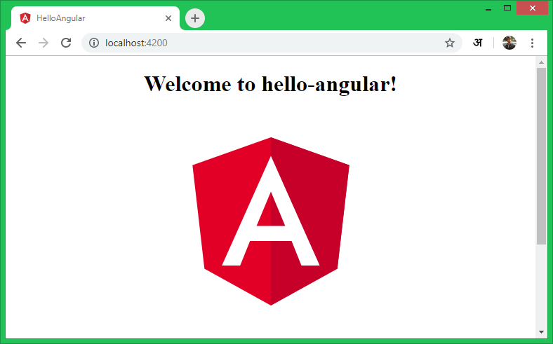 Angular in web browser