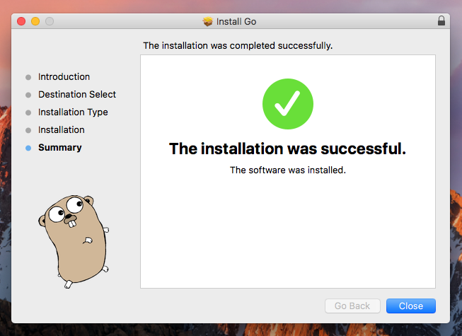 install go on macos