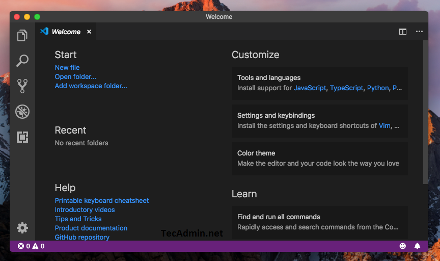 Installing Visual Studio Code on macOS
