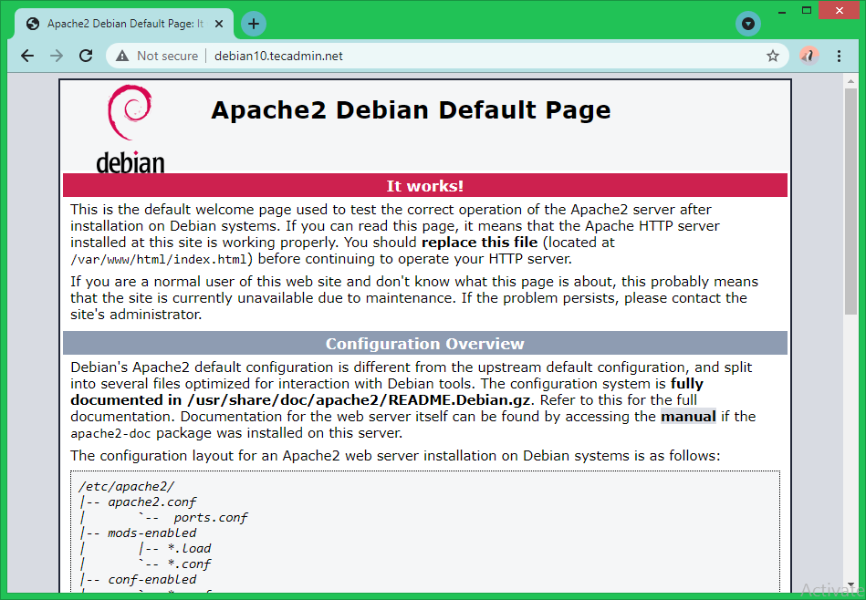 Install Apache with LAMP Stack Debian 10