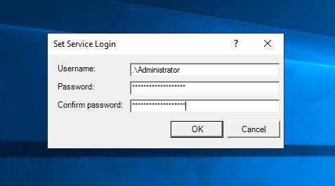 install windows service via command line