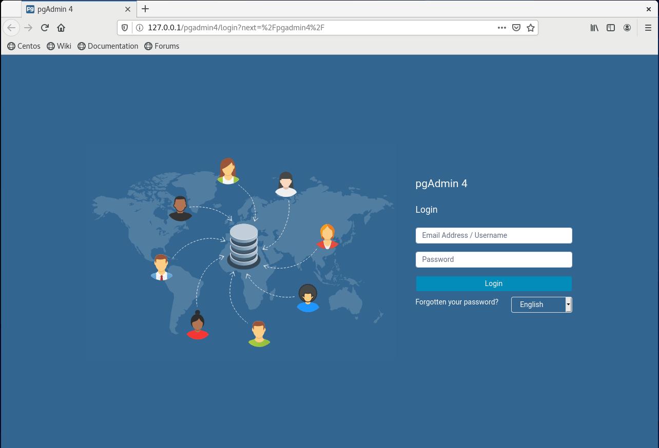pgAdmin4 on CentOS 8