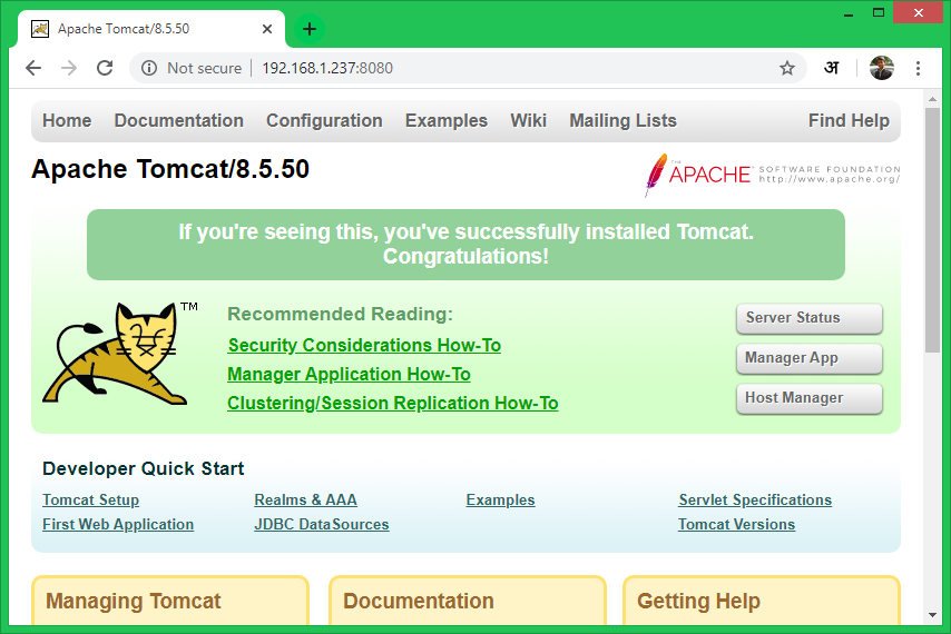 Install Tomcat 8 on CentOS 8