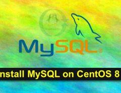 install mysql 8 centos 8