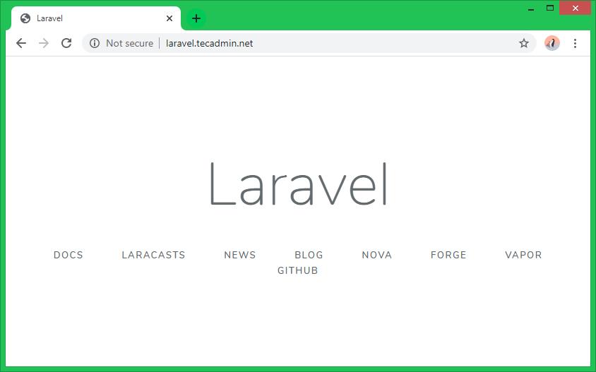Laravel Fedora with Apache