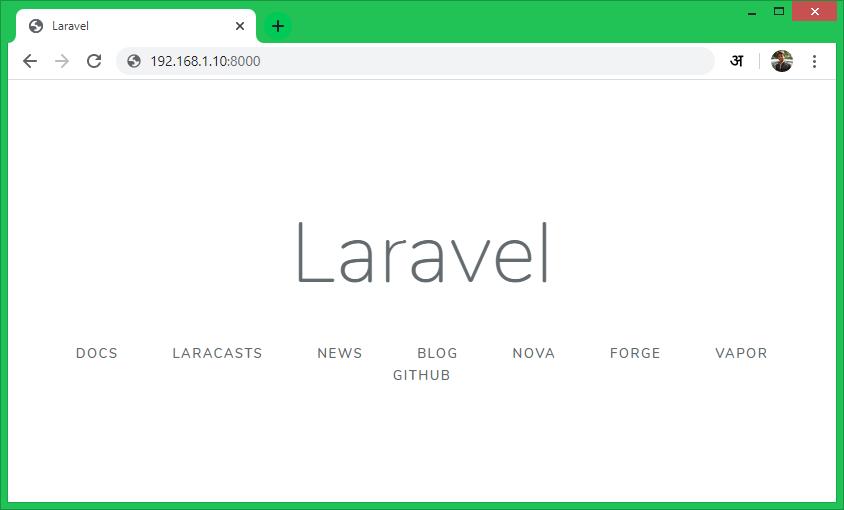 Setup Laravel Fedora PHP Artisan