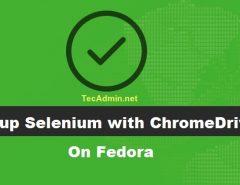 Fedora Setup Selenium chromedriver
