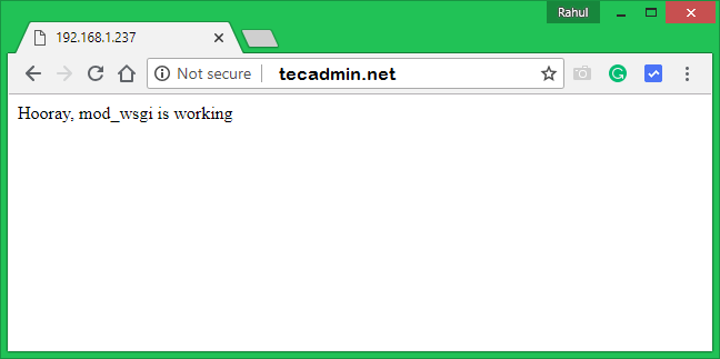 Install Apache mod_wsgi Module on CentOS 8