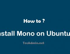 Install Mono on Ubuntu