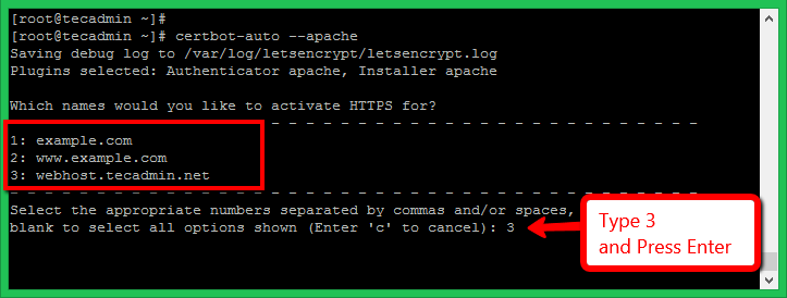 Lets Encrypt Apache on CentOS 8