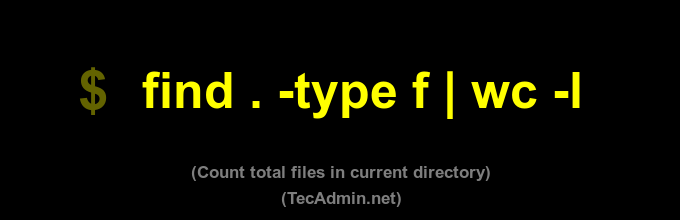 Recursive count files in linux command