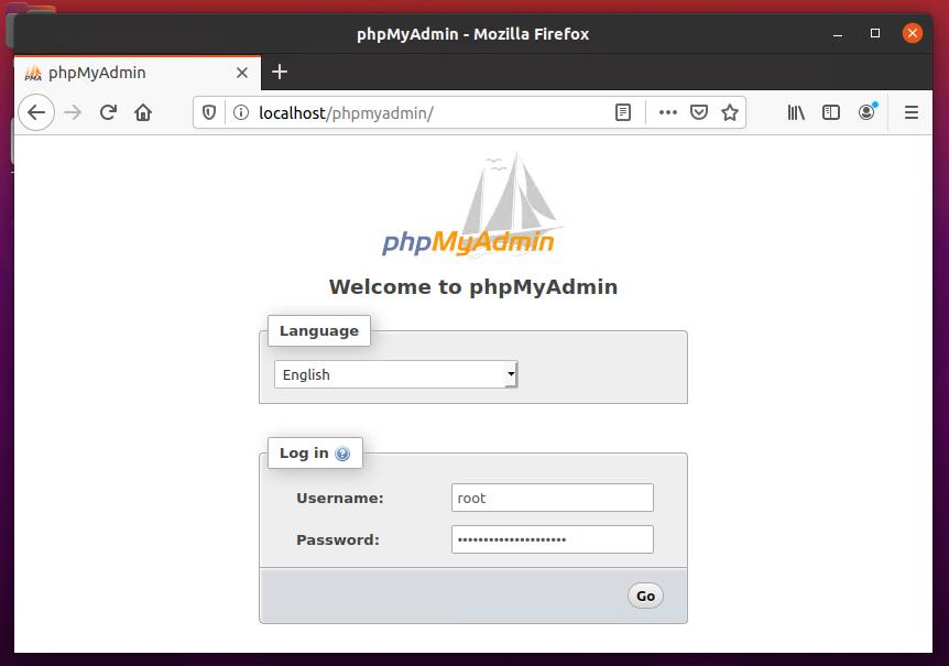 phpMyAdmin lamp ubuntu 20.04