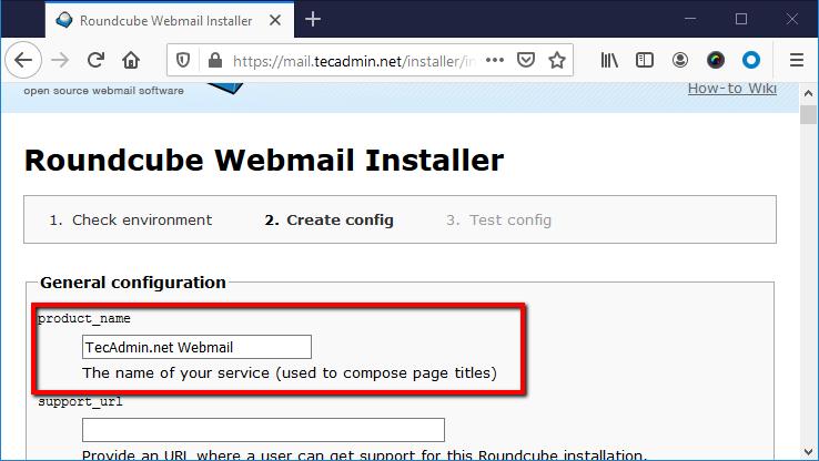 Rouncube web install step 2