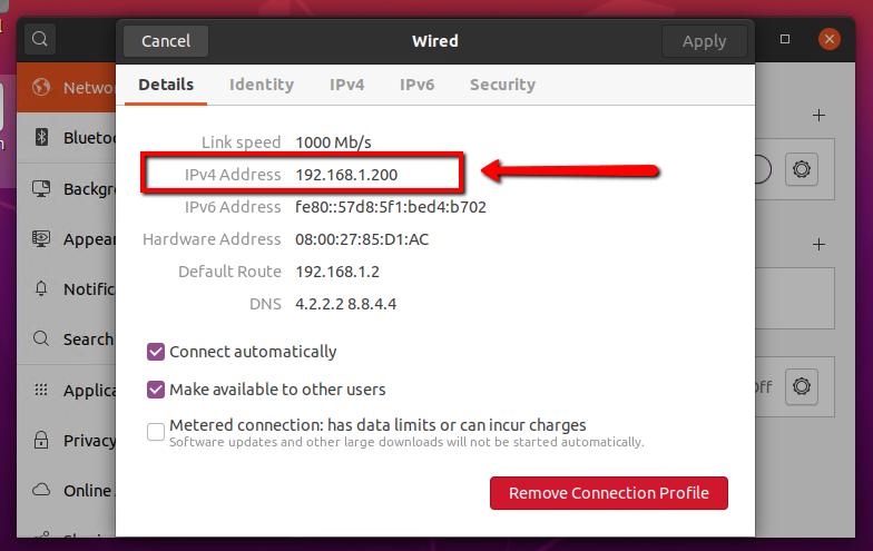 View IP Ubuntu 20.04