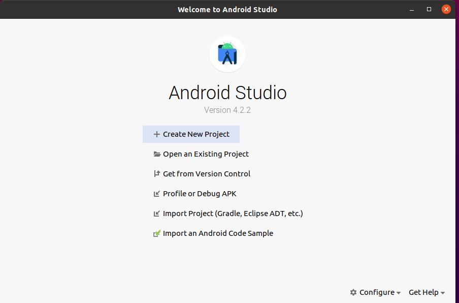 A Running Android Studio  on Ubuntu 20.04