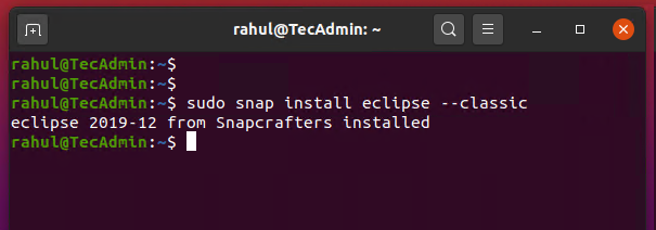installing eclipse ide ubuntu 20.04