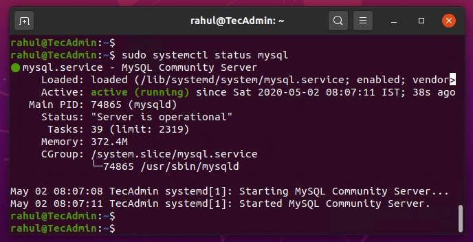 Install MySQL Ubuntu 20.04
